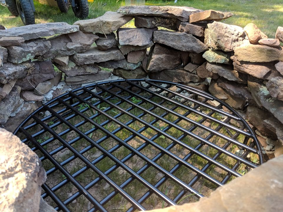 Making A Field Stone Fire Pit Partial Fail Vantages From Vandalia
