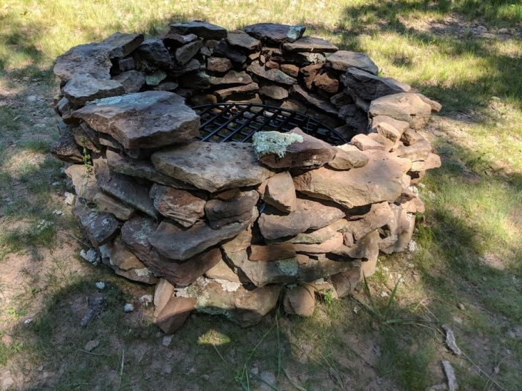 Ta-Da! a quasi finished fire pit.